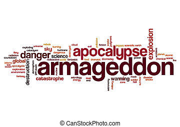 Armageddon word cloud concept