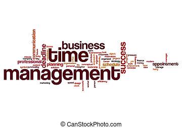 Time management word cloud concept