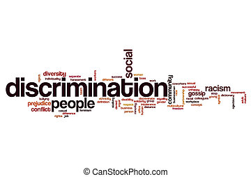 Discrimination word cloud concept