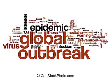 Global outbreak word cloud concept