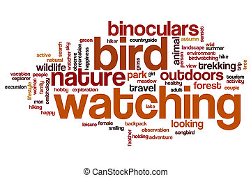 Bird watching word cloud concept