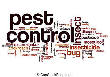 Pest control word cloud concept