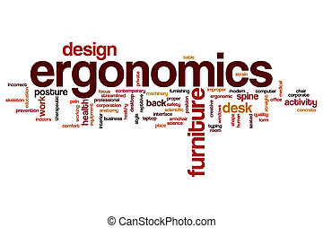 Ergonomics word cloud concept