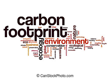 Carbon footprint word cloud concept