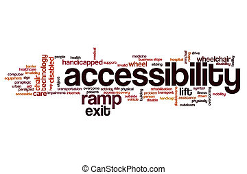 Accessibiltiy word cloud - Accessibility word cloud concept