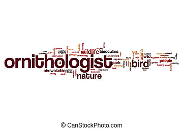 Ornithologist word cloud concept
