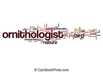 Ornithologist word cloud concept
