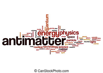 Antimatter word cloud concept