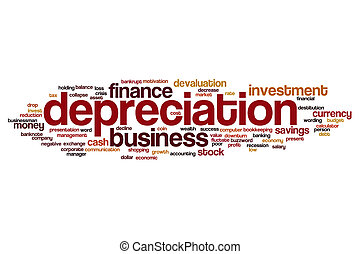 Depreciation word cloud concept