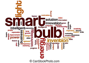 Smart bulb word cloud