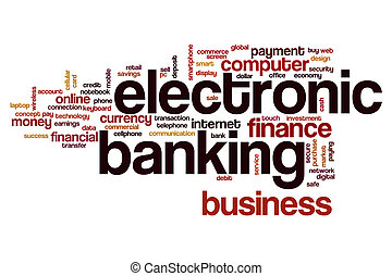 Electronic banking word cloud concept