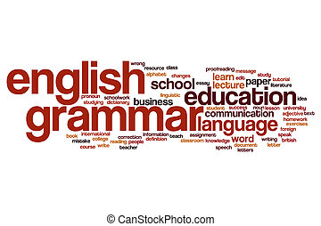 English grammar word cloud concept