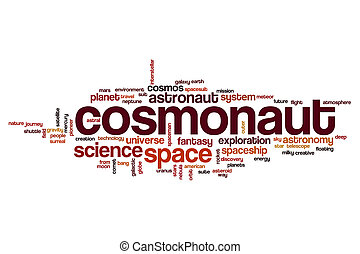 Cosmonaut word cloud concept