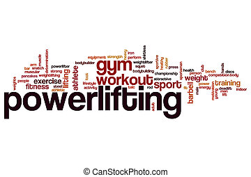 Powerlifting word cloud concept