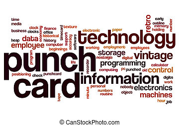 Punch card word cloud concept