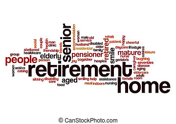 Retirement home word cloud concept