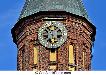 Tower Konigsberg Cathedral. Symbol of Kaliningrad, Russia -...