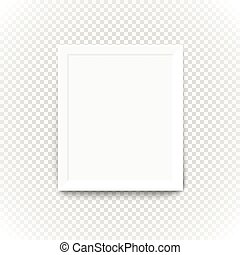 Blank picture frame on transparent background. Template for a content