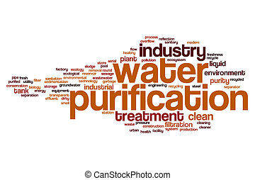 Water purification word cloud concept
