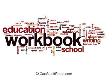 Workbook word cloud concept
