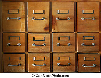 Old and used filing cabinet