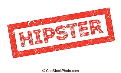 Hipster rubber stamp - Hipster, rubber stamp on white....