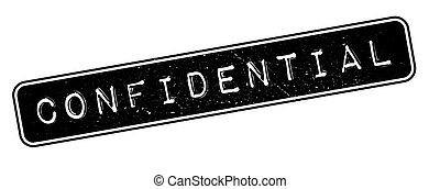 Confidential rubber stamp on white. Print, impress,...