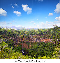 Chamarel waterfalls in Mauritius - Scenic Chamarel...
