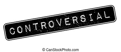 Controversial rubber stamp on white. Print, impress,...