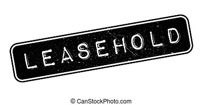 Leasehold rubber stamp on white. Print, impress, overprint.