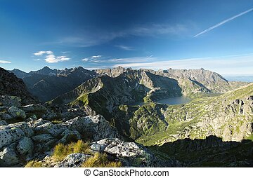 View of the Tatra Mountains - Panoramic view of the Tatra...