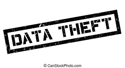 Data Theft rubber stamp on white. Print, impress, overprint.