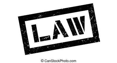 Law rubber stamp on white. Print, impress, overprint.