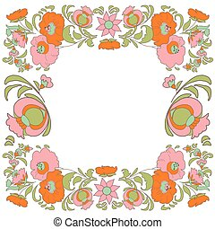 Flower pattern Vintage - Ethnic flowers Floral folk art...