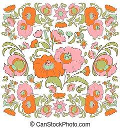 Flower pattern Vintage - Flower Vintage background Ethnic...