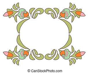Vintage frame - Vintage floral frame Ethnic flowers Floral...