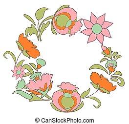 card082.EPS - Vintage floral background. Flowers folk art...
