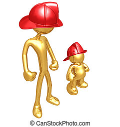 Wannabe With Gold Guy Fireman - A Concept And Presentation...