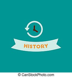 flat icon on background history lesson - flat icon on...