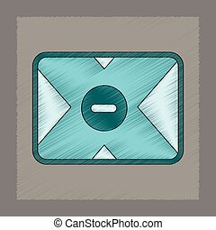 flat shading style icon removable hard drive - flat shading...