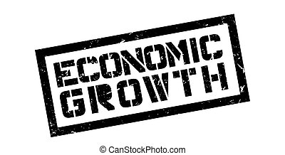 Economic Growth rubber stamp on white Print, impress,...