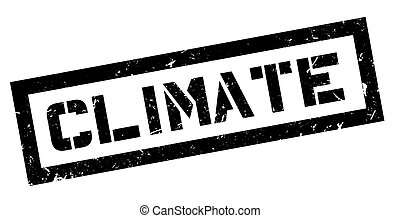 Climate rubber stamp on white Print, impress, overprint