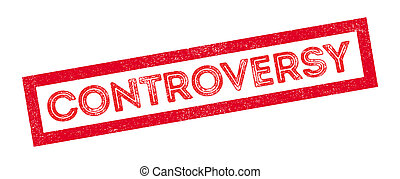 Controversy rubber stamp on white. Print, impress,...