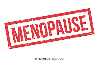 Menopause rubber stamp on white. Print, impress, overprint.