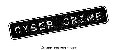 Cyber Crime rubber stamp on white. Print, impress,...
