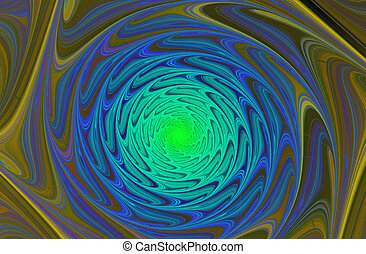 abstract fractal shape - Abstract spiral computer-generated...