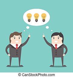 Businessmen sharing ideas