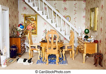 Dolls House - Dining room - Lovely victorian dining room...