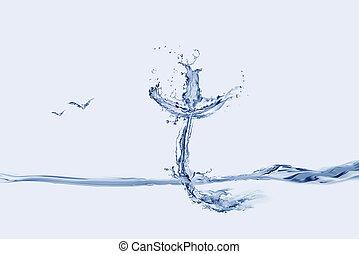 水, 產生雜種, 鳥