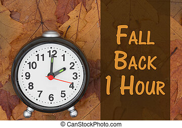 It is time to fall back message - Daylight Savings Time...
